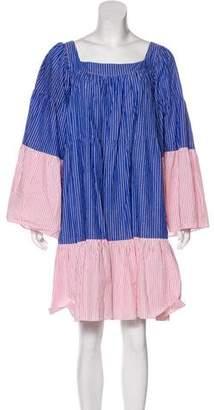 Lisa Marie Fernandez Striped Knee-Length Dress