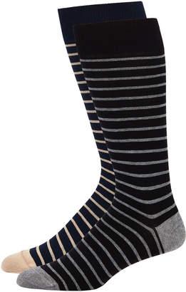 Peter Millar Striped Dress Socks, Two Pack