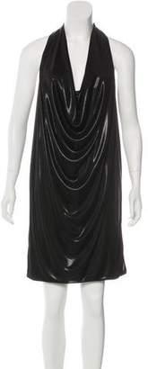 Diane von Furstenberg Metallic Draped Dress