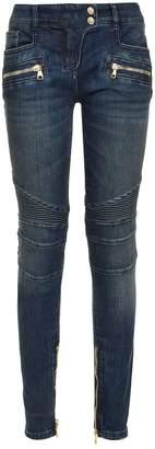 Balmain Biker Skinny Fit Jeans