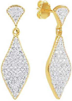 584764a34 Evoke 9ct Gold Plated Silver Marquise Crystal Drop Earrings