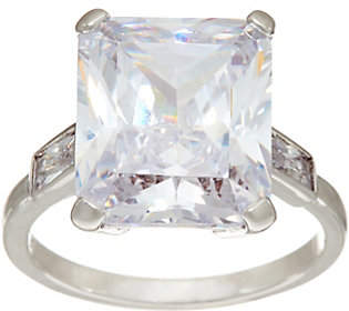 Grace Kelly Collection Grace Kelly Simulated Emerald Cut DiamondEngagement Ring