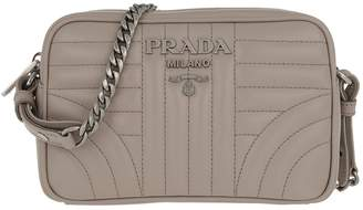 Prada Diagramme Crossbody Bag Leather Pomice 2