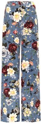 Erdem High-rise wide-leg silk pants