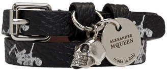 Alexander McQueen Black Double Wrap Bracelet