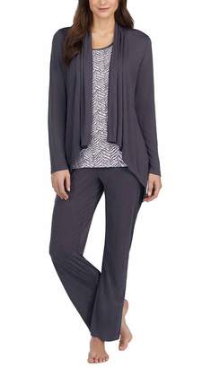 Carole Hochman Midnight Ladies' 3-Piece Pajama Set (Gray, 2XL)