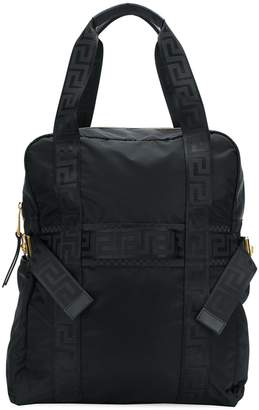 Versace Grecca strap backpack