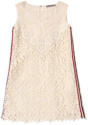 Ermanno Scervino Macramé Lace Dress W/ Side Bands