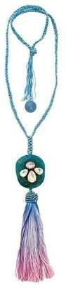 "Ricardo Rodriguez Design Agate & Tassel ""Funfair Necklace"""