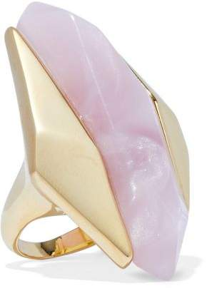 Noir Light Beam 14-Karat Gold-Plated Resin Ring