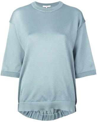 Tibi half-sleeve knitted sweater