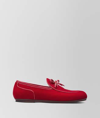Bottega Veneta RED VELVET TRINITY LOAFER