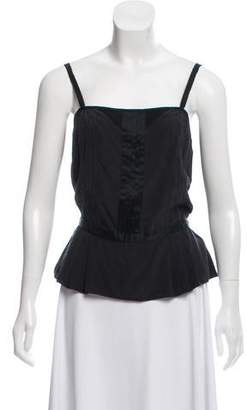 Marc by Marc Jacobs Silk Pleated Crop Top