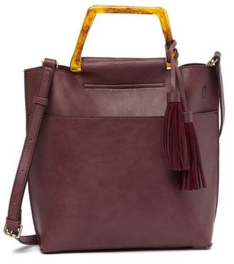 Street Level Faux Leather Tote Bag