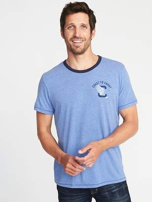 "Old Navy ""Coast to Coast"" Varsity-Style Graphic Tee for Men"