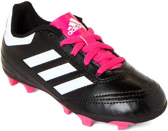 adidas Toddler Girls) Black & Pink Goletto VI FG Soccer Cleats