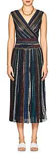 Missoni Women's Metallic Striped Maxi Dress - Dk. Blue