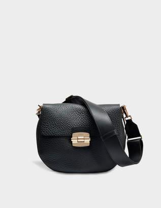 45c1c4109b3a Furla Club S Crossbody Bag in Onyx Nirvana Leather