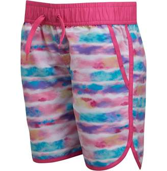 Board Angels Girls Printed Board Shorts Pink/Multi