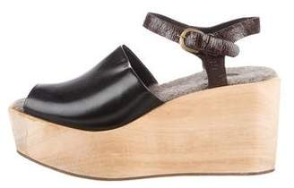 Rachel Comey Leather Platform Wedges