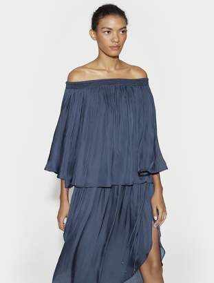 Halston Off Shoulder Flowy Top