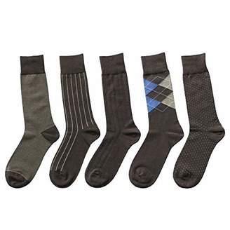 Feetalk Modal Cotton Odor Resistant Business Dress Men's Crew Socks 6 Pack(M: Shoe size for Men 6-8.5)