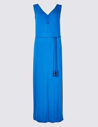 Marks and Spencer Ruched Front Slip Maxi Dress