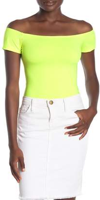 Blvd Neon Off-the-Shoulder Bodysuit