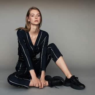 Maje Striped jumpsuit