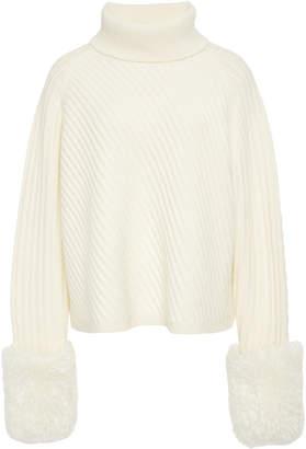Athena Yeon M'O Exclusive Wool-Blend Rib-Knit Turtleneck Sweater