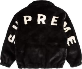 Supreme Faux Fur Bomber Jacket - Black