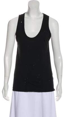 Zadig & Voltaire Distressed Sleeveless Top