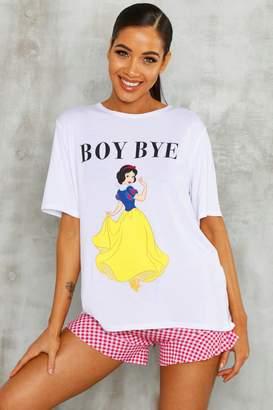 boohoo Disney Snow White Check Licence PJ Short Set
