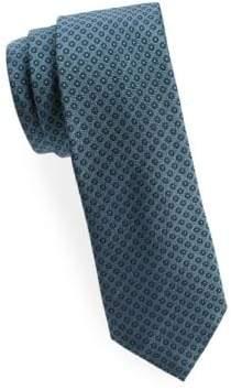 Saks Fifth Avenue Circle Dot Silk Tie