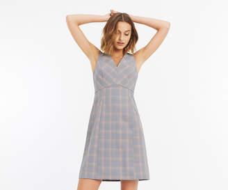 Oasis LONG CHECK SHIFT DRESS