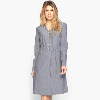 Anne Weyburn Draping Denim Dress