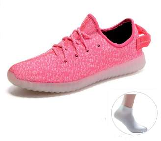 NewYork Offer Shop Unisex Men & Women Sneakers USB Charging Light Colorful Glowing Leisure Flat Shoes