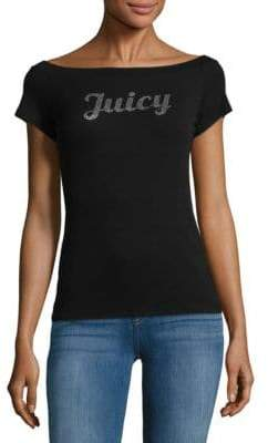 Juicy Couture Logo Boatneck Top