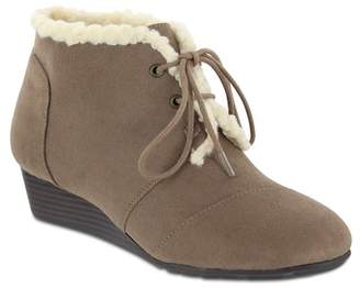 MIA AMORE Sarah Lace-Up Faux Shearling Bootie - Wide Width Available