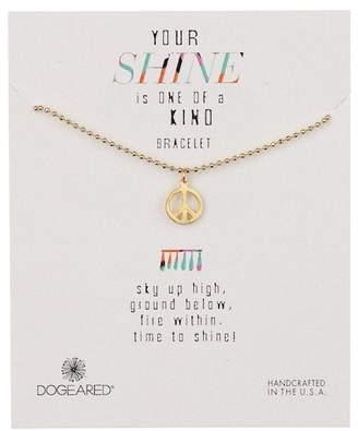 Dogeared 14K Gold Vermeil Your Shine Peace Bracelet
