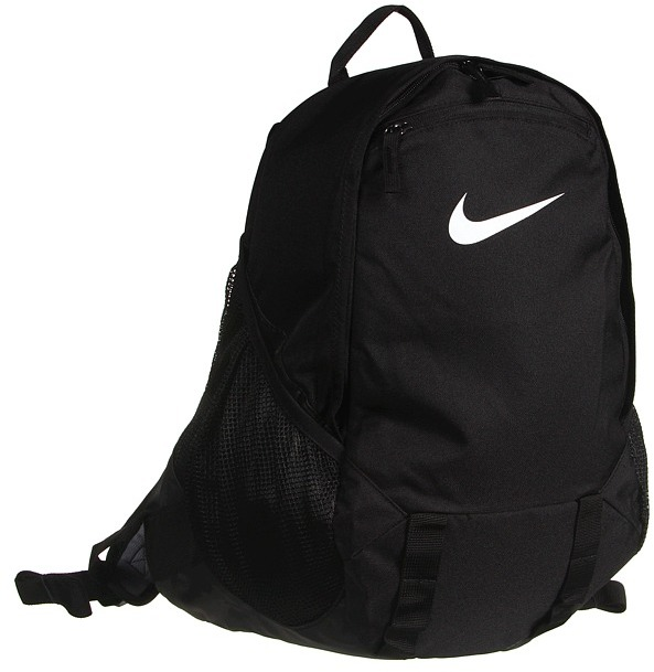 Nike Soccer Offense Compact Backpack (Black/Black/White) - Bags and Luggage