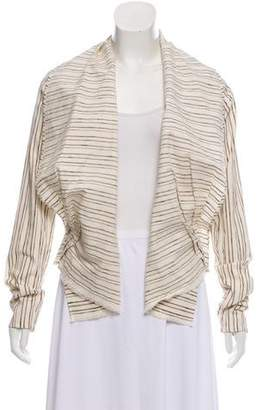 Dries Van Noten Striped Open Front Cardigan