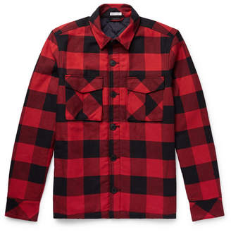 Tomas Maier Checked Cotton-Flannel Overshirt
