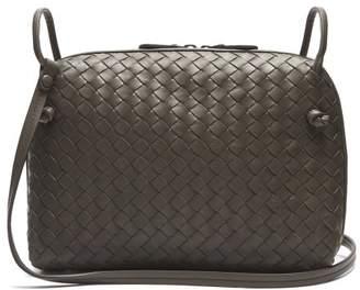 Bottega Veneta Nodini Small Intrecciato Leather Cross Body Bag - Womens - Grey
