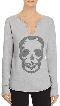 Zadig & Voltaire x AQUA Skull Embellished Henley - 100% Exclusive