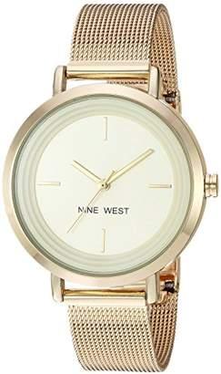Nine West Women's NW/2146CHGP -Tone Mesh Bracelet Watch