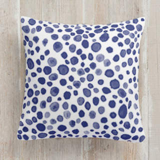 Dots and Drops Square Pillow