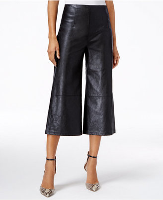 GUESS Denise High-Rise Faux-Leather Culottes $79 thestylecure.com