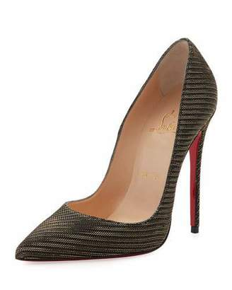 Christian Louboutin So Kate Glitter Chain 120mm Red Sole Pump, Black