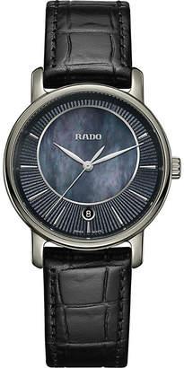 Rado R14064915 DiaMaster ceramic and leather watch